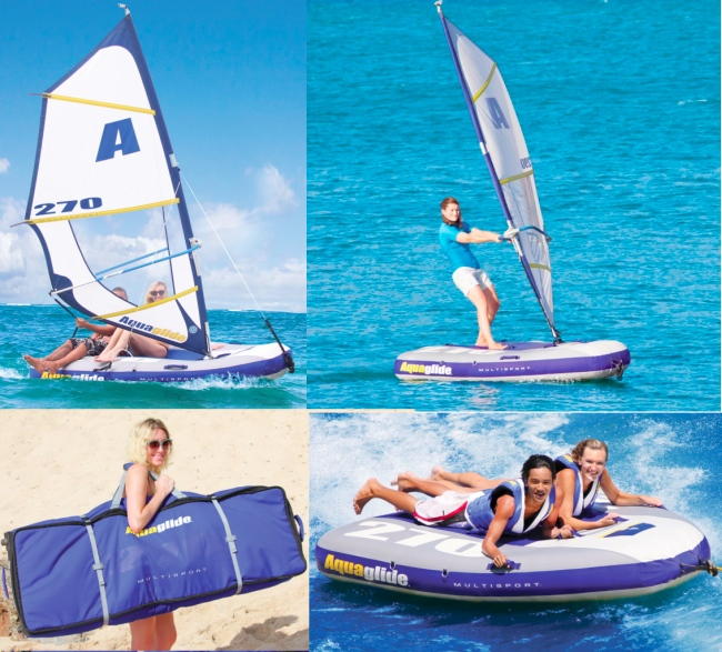 Aquaglide Inflatable Windsurfer, Sailboat, Towable and Kayak