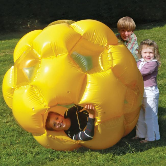 kid powered tumbler 650x650 Kid Piloted Inflatable Rolling Honeycomb