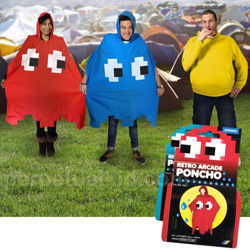 pac man ponchos Pac Man Ghost Ponchos