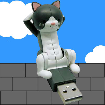 usb crunching cat USB Crunching Cat