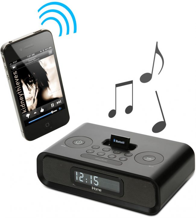 bluetooth audio receiver 650x724 Adapter Turns iPod Speaker Docks into Wireless Bluetooth Speakers