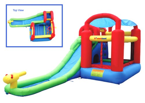 Inflatable Bounce House and Waterslide Combo
