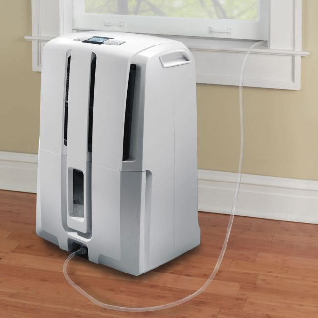 dehumidifier pump 650x650 DeLonghi Dehumidifier Pumps Moisture out the Window