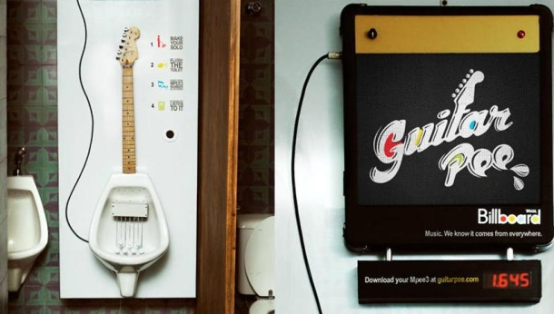 guitar urinal Pinboard
