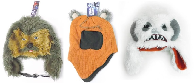 Star Wars Chewbacca, Wicket, and Wampa Laplander Hats