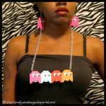 Pac-Man Ghosts Pixel Necklace
