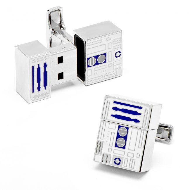 r2d2 cufflinks 650x650 R2 D2 Flash Drive Cufflinks
