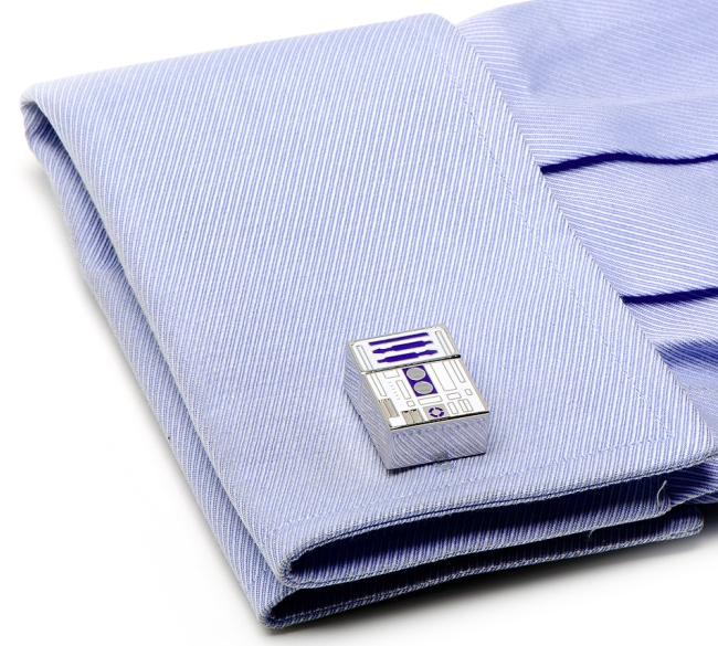 r2d2 cufflinks on shirt R2 D2 Flash Drive Cufflinks