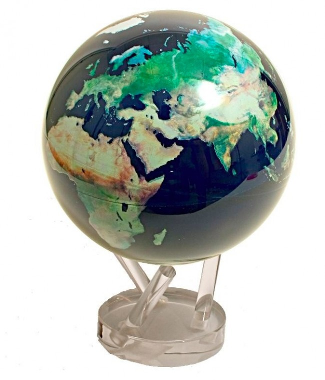 Self Rotating Satellite View Globe