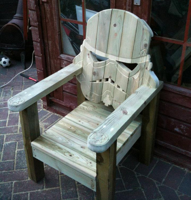 stormtrooper chair Stormtrooper Wood Deck Chair