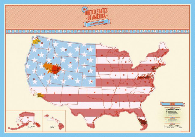 United States Scratch Off Map Craziest Gadgets - Scratch us map