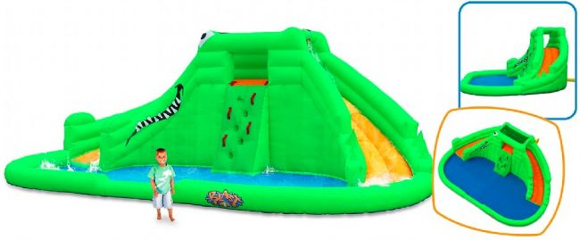 Blast Zone Crocodile Isle Inflatable Water Park and Slide