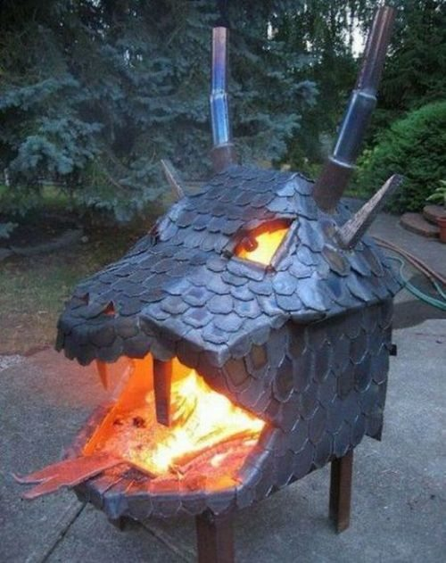 dragon head fire pit Pinboard