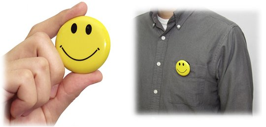 Smiley Face Button Camera