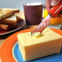 heated butter knife
