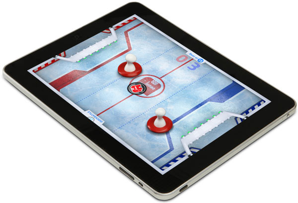 iPad Air Hockey with Capacitive Strikers