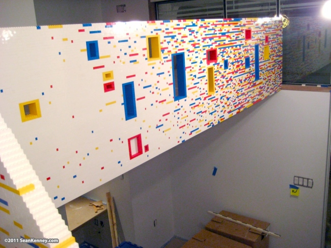 lego loft Incredible Manhattan Staircase and Loft Covered in 20,000 Lego Bricks