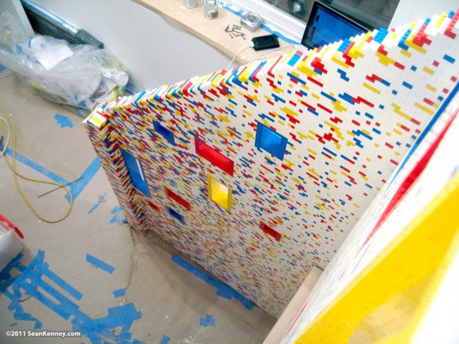 lego stairs and loft Incredible Manhattan Staircase and Loft Covered in 20,000 Lego Bricks