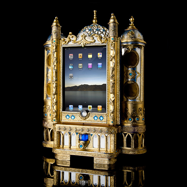 ornate ipad holder The Most Ridiculously Ornate iPad Dock Ever