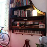 Hanging an Old Piano as a Bookshelf