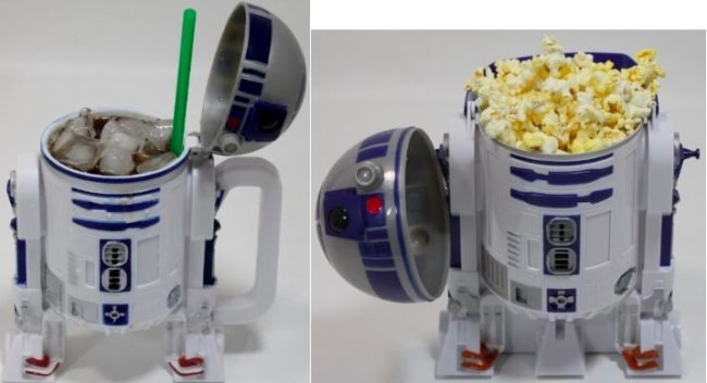 r2d2 popcorn and mug 650x352 R2 D2 Popcorn Bucket and Mug