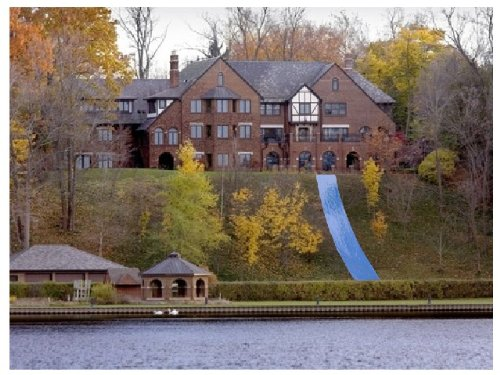 Huge Backyard Water Slide : waterslide on hill