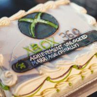 X-Box 360 Achievement Unlocked Wedding Cake