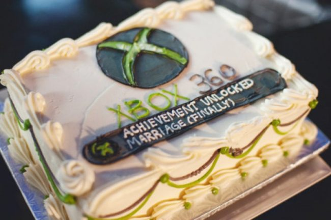 X-Box 360 Achievement Unlocked Wedding Cake