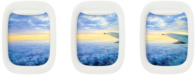Air Frame is the Airplane Window Picture Frame