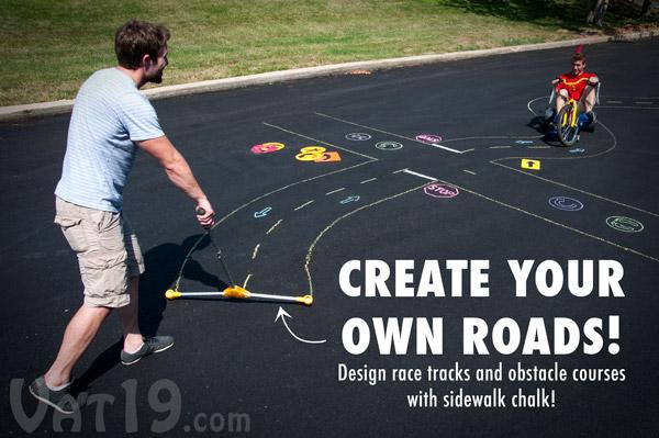 chalk city sidewalk chalk roads Chalk City Road Maker