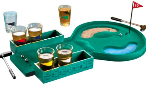 Desktop Golf Shot Glass Game