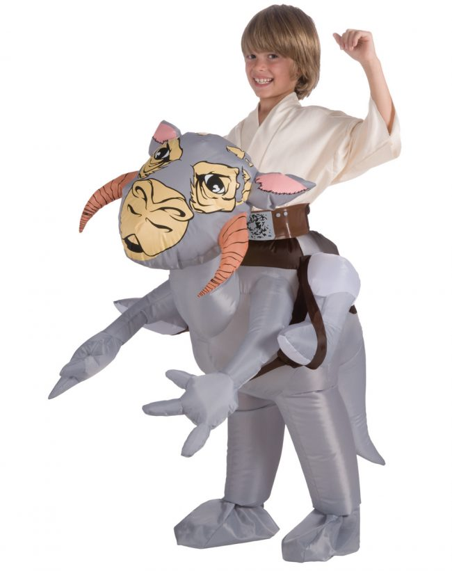 kids tauntaun 650x821 Star Wars Riding a Tauntaun Inflatable Costume