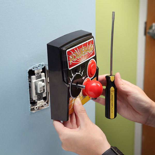 power up arcade light switch Pinboard
