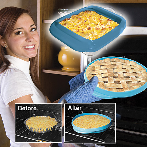 Silicone Pie and Casserole Guards Prevent Spills