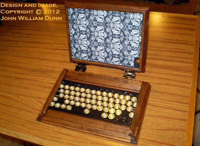 Steampunk iPad Case with Bluetooth Keyboard