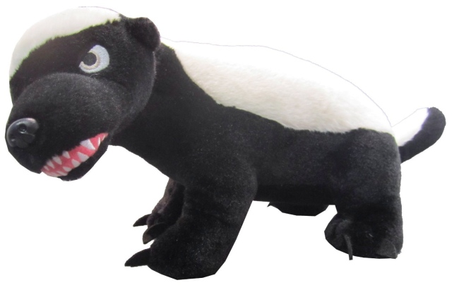 Plush Talking Honey Badger Don't Care