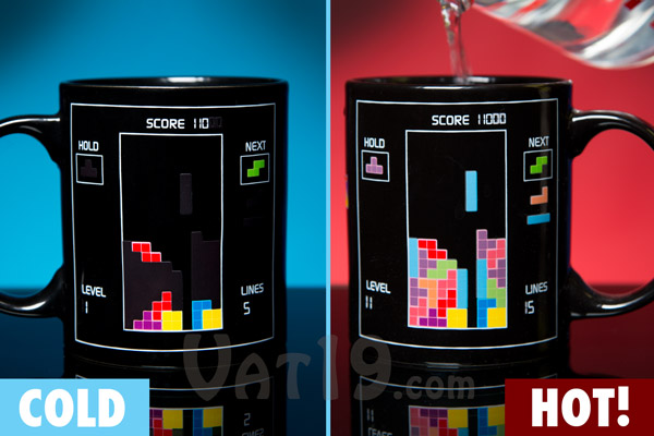 Heat Changing Tetris Mug