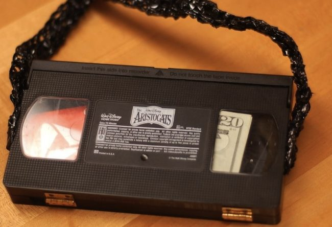 Clutch Purse from a VHS Tape