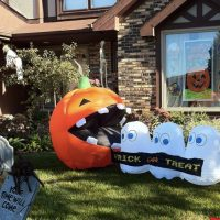 Inflatable Pac-Man Halloween Decoration