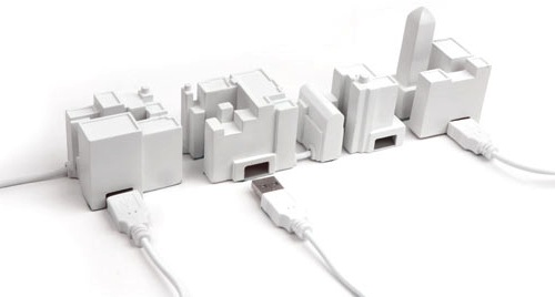 Tiny City Buildings USB Hub