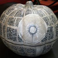 Glow in the Dark Death Star Pumpkin