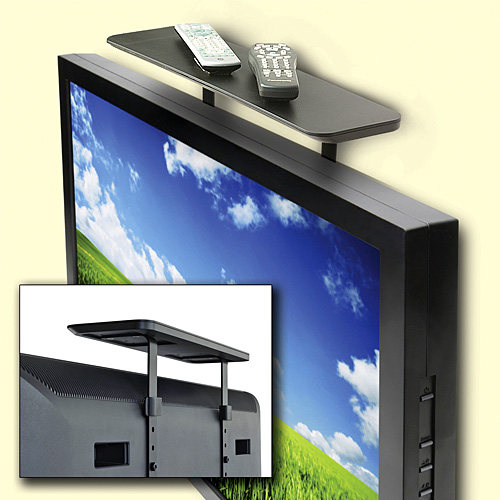 flat screen tv shelf craziest gadgets. Black Bedroom Furniture Sets. Home Design Ideas