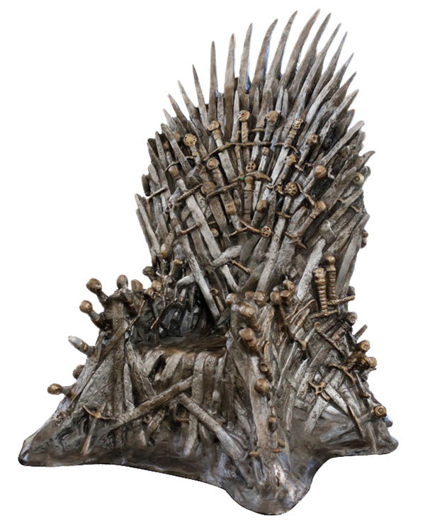 game of thrones life sized throne Pinboard