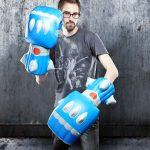 Giant Inflatable Robot Battle Fists