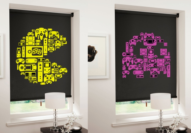 pac man roller blinds Video Game Roller Shades