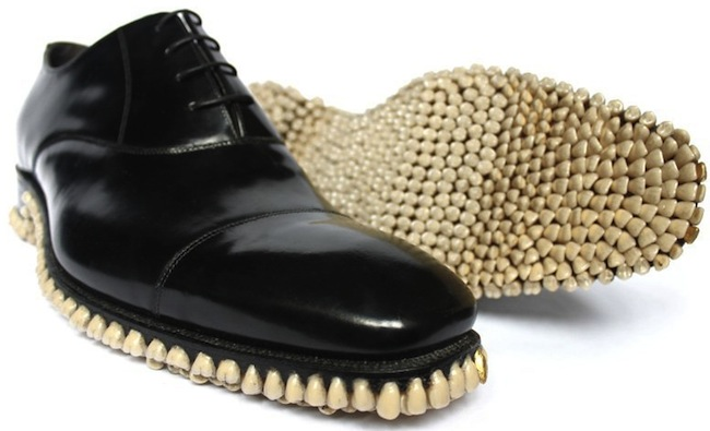 Shoes with 1050 Teeth on the Soles