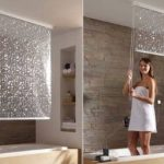 Matching Bathroom Shower And Window Curtains Roll Up Shower Curtain