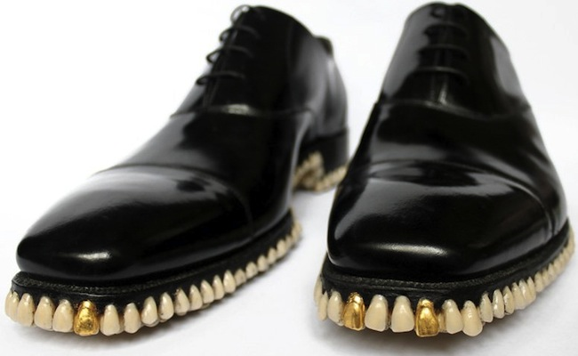 teeth shoes apex predator Shoes with 1050 Teeth on the Soles