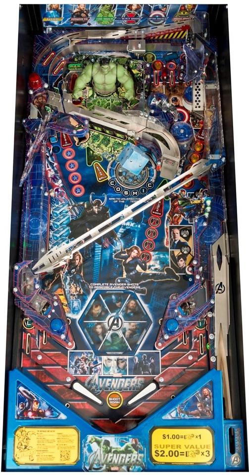 avengers pinball playfield Stern Pinball Announces Avengers Pinball