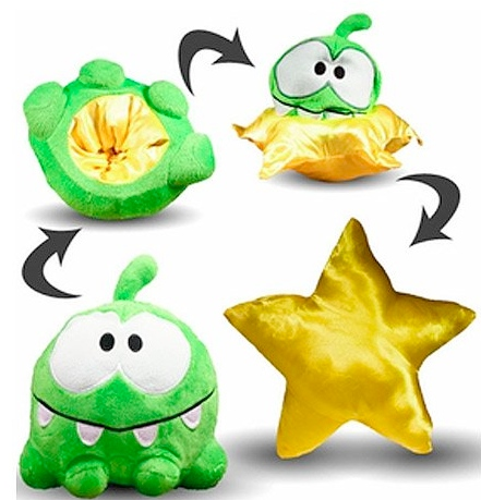 Cut the Rope Reversible Plush Om Nom